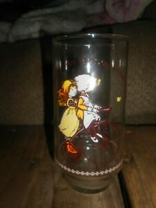 VINTAGE HOLLY HOBBIE COCA-COLA DRINKING GLASS-LIMITED EDITION-HAPPY TALK SERIES-