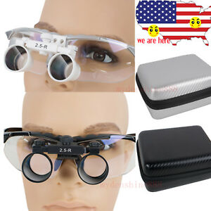 2 5x320 420mm Dental Surgical Medical Loupes Magnifer Binocular Loupes Carry Box