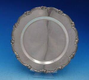 Water Lily By Camusso Peruvian Sterling Silver Charger Plate 4696