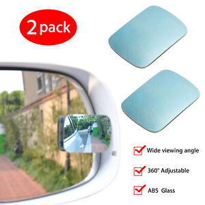 Adjustable Blind Spot Mirror Wide Angle Rear View Car Side Mirror With Adhesive