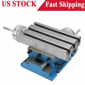 Milling Machine Compound Work Table Cross Slide Bench Drill Press Vise 4x7 3inch