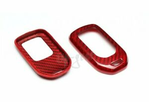 For Honda Cr v hr v pilot ridgeline Real Red Carbon Fiber Remote Key Shell Cover