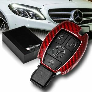 For Mercedes Benz E320 350 500 Amg Real Red Carbon Fiber Remote Key Shell Cover