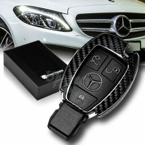For Mercedes Benz E320 350 500 Amg Real Carbon Fiber Remote Key Shell Cover Case