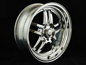 Billet Specialties Pair Of Polished Launch Wheels 18 X 7 5 X 4 75 Bp 3 75 Bs