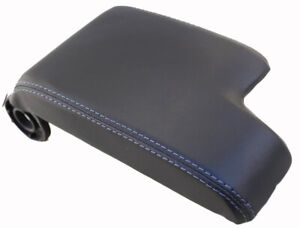 Fits 99 06 Bmw E46 Black Leather W gray Stitch Center Console Lid Cover