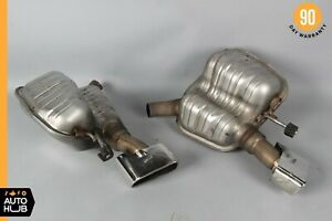 09 12 Mercedes R230 Sl550 Sl600 Exhaust Mufflers Muffler Tips Assembly Oem
