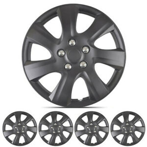 Carxs Universal Hubcaps Fits Toyota Camry Black 16 Inch Wheel Covers Set Of 4