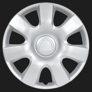 Bdk 4 Pc Set 15 Inch Silver Hub Caps Cover For Oem Steel Wheel Covers Cap