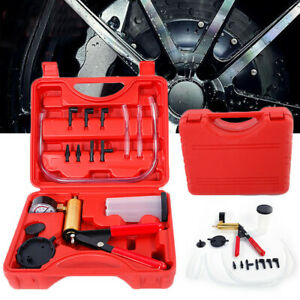 Car Hand held Vacuum Pressure Pump Tester Kit Brake Fluid Bleeder Accessories
