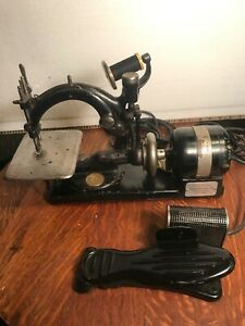 Antique Willcox And Gibbs Hand Crank Sewing Machine W Electric Motor Conversion