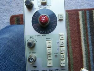 Tektronix 5b10 Time Base ampl Plug In Module Was In A Calibration System Asis