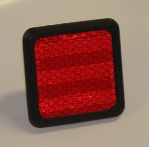 Safety Red Reflective Trailer Hitch Cover For 1 25 Hitch Receiver 1 1 4