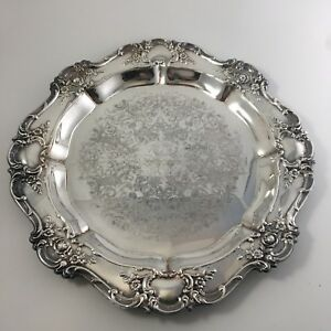 Vintage Towle Old Master 15 Round Tea Service Tray Silverplate