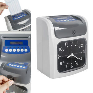 Employee Attendance Analogue Time Recorder Time Clock Music Tones Data Memory