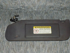 1993 1998 Jeep Grand Cherokee Lighted Sun Visor Driver Side Sunvisor Black Oem