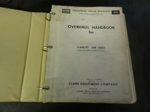 Clark Clarklift C500 Forklift Overhaul Handbook Instructions Manual Oh 370 t