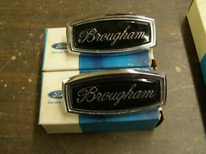 Nos Oem Ford 1971 1972 1973 Galaxie 500 Ltd Brougham Roof Side Emblems Ornaments