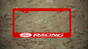 Ford Racing Logo Plastic Red License Frame Vinyl Mustang Fusion Focus White Font