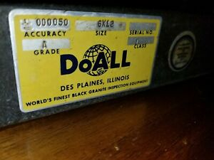 Doall Black Granite 6x12x2 Grade A Dressing Stone For Gage Blocks