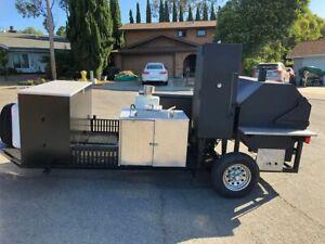 2012 5 5 X 22 Open Bbq Smoker Trailer bbq Tailgating Trailer For Sale In Calif