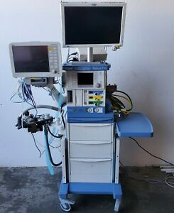 Drager Fabius Tiro Anesthesia Machine With Monitors And Extras