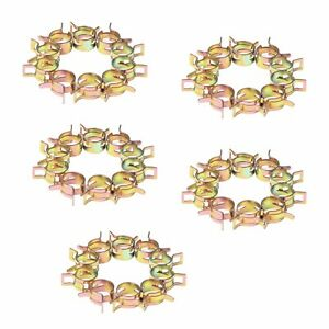 50pcs 11mm 0 43 Id Spring Band Clip Action Silicone Vacuum Hose Clamp