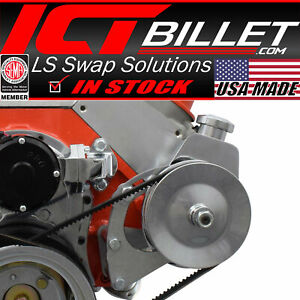 Bbc Power Steering Pump Bracket Electric Water Pump Billet Big Block Chevy 454