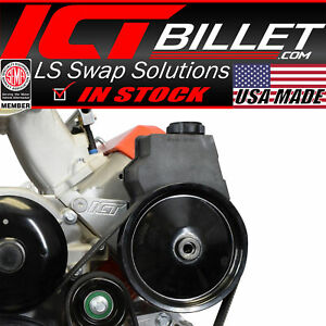 Ls Truck Power Steering Bracket Kit Swap 5 3l 6 0l 4 8l ls1 Camaro Ps Pump