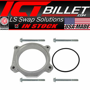 Lsa Ls3 Throttle Body Spacer 1 Inch Adapter Ls Clearance 4 Bolt Tb Dbw