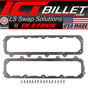 Lt To Sbc Staggered Bolt Pattern 1955 86 Valve Cover Adapter Lt1 Lt4 L86 L83 Ltx