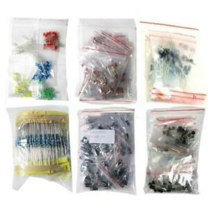 Lot 1390 Pcs Electronic Components Led Diode Transistor Capacitor Resistance Kit