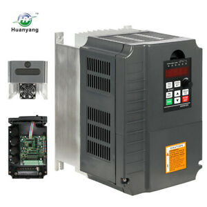 New Variable Frequency Drive Inverter Vfd 7 5kw 10hp 220v Single To 3 Phase Usa