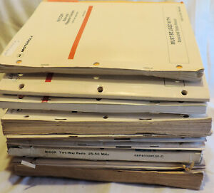 Box O Manuals 31 Motorola Micor Assorted