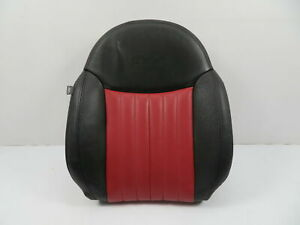 12 Fiat 500 1116 Seat Cushion Backrest Front Right Black red Leather