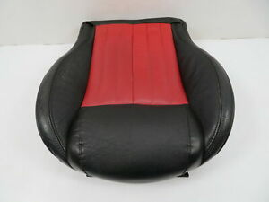 12 Fiat 500 1116 Seat Cushion Bottom Front Right Black red Leather