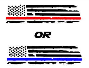 Distressed American Flag Truck Rear Window Decal Fits Dodge Ram 1500 2500 A2
