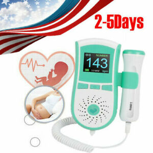 Pocket Lcd Fetal Doppler Heart Beat Rate Monitor Fhr 3mhz Probe Pregnancy Fetus