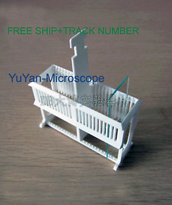 Plastic Staining Rack Stand can Put 24pcs Of Glass Microscope Slides free Ship