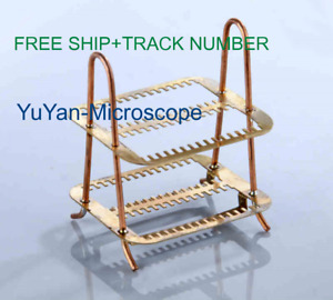 Copper Staining Rack Stand Can Put 30pcs Of Glass Microscope Slides free Ship