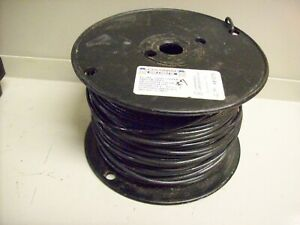 7 New Spool Of Electric Wire 14 Guage Solid 435 Black