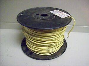 16 New Spool Of Electric Wire 14 Guage Solid 400 Yellow