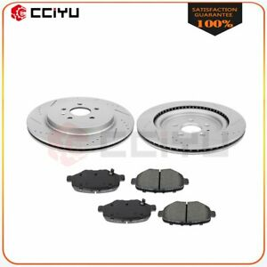 For 2013 2018 Ford Explorer Rear Drilled Discs Brake Rotors And Ceramic Pads