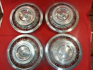 Rare 1950 Desoto Set Of 4 Wire Wheel Bolt On Wheelcovers Hubcaps Mopar