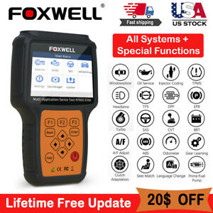 Foxwell Nt650elite Obd2 Epb At Bms Dpf Abs Srs Oil Reset Diagnostic Scanner Tool