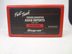 Snap On 2001 Asian Troubleshooter Cartridge Mt2500 Scanner