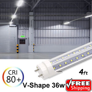 V shape 10 1000 Pack Led G13 4ft 4 Foot T8 Tube Light Bulbs Ultra 36w 6500k