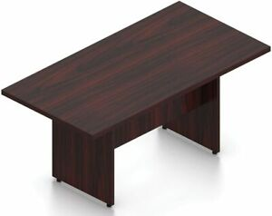 8 Ft Contemporary Rectangular Conference Room Table In American Mahogany Finish