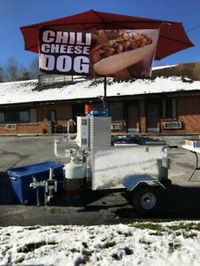 Lightly Used 2019 52 5 X 81 Heritage Hot Dog Cart street Food Cart For Sale In