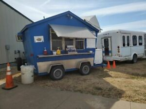 8 25 X 11 2 Shaved Ice snowball Concession Trailer With Ford E350 Bus For Sale